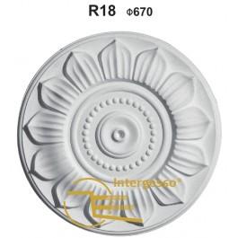 Ficheiro 3D do florão em gesso R18