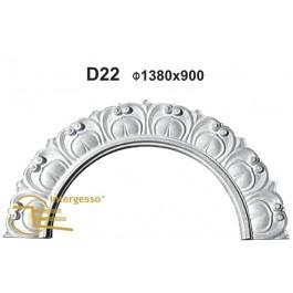 Frontal de Porta em Gesso D22