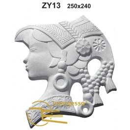 Estatueta Mulher de perfil em Gesso ZY13