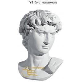 """Busto """"David"""" 100% Gesso Artesanal"""
