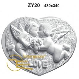 Painel Decorativo em Gesso ZY20 Love