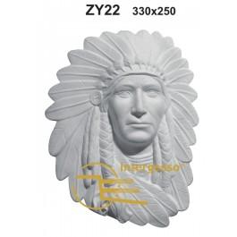 Estatueta Índio em Gesso ZY22